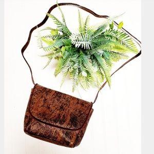 Stuart Weitzman Tiger Print Leather Crossbody Bag